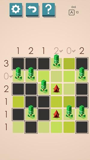 帐篷与树谜题游戏截图